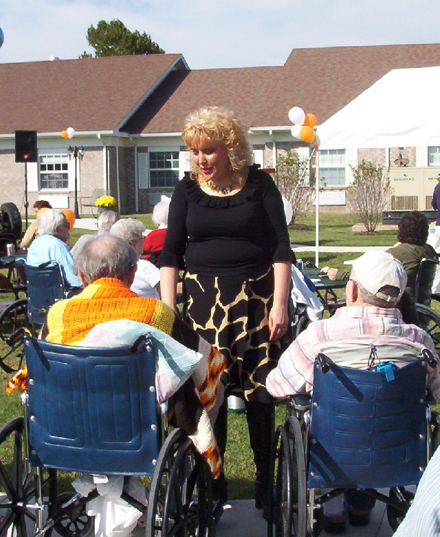 Nana Tana LOVING on the Residents @ Rehab Center Open House! <3
